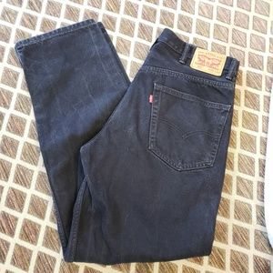 LEVI'S 550 BLACK DENIM STRAIGHT LEG 38